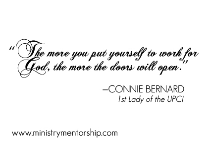 Work for God quote by Connie Bernard   Ministry Mentorship