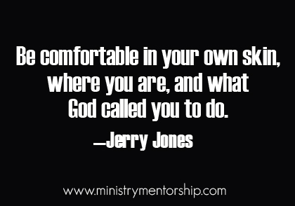 Comfortable Quote by Jerry Jones   Ministry Mentorship