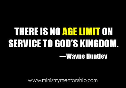 wayne huntley ministry mentorship christian Age Limit