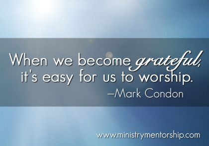 Grateful Quote by Mark Condon | Ministry Mentorship