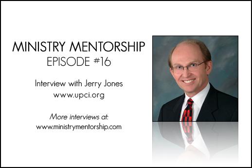 Jerry Jones preaching ministry mentorship
