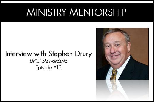 Stephen Drury Stewardship Post