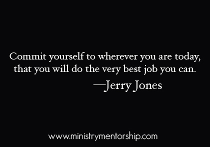 Jerry Jones christian quote preaching teaching apostolic ministry mentorship